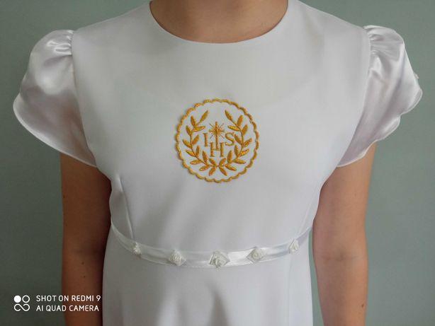 albo-sukienka do komunii z dodatkami