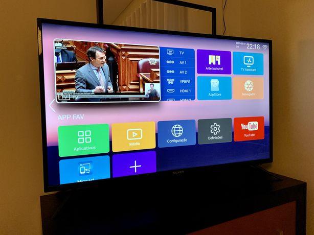"Smart TV Silver 50"" 4K Ultra HD LED"