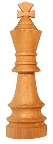 Peça de Decoração de Xadrez: Rei Gigante de Madeira (novo)