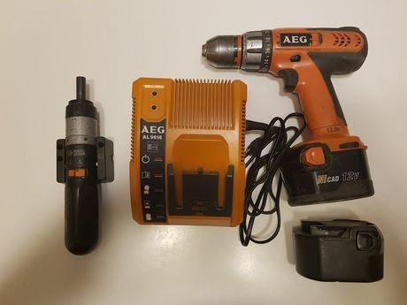 Wkrętarka AEG BS 12 X-R + śrubokręt BLACK&DECKER