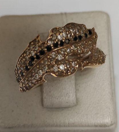 Кольцо из красного золота с цирконием (12671746) (12671746)