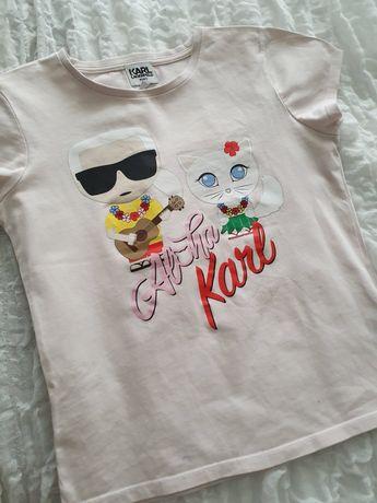 T-Shirt Karl Lagerfeld różowy r.10 lat 138cm