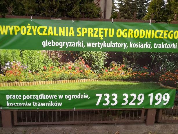 Wypożyczalnia sprzętu ogrodniczego, glebogryzarki, piły, traktorki,itp