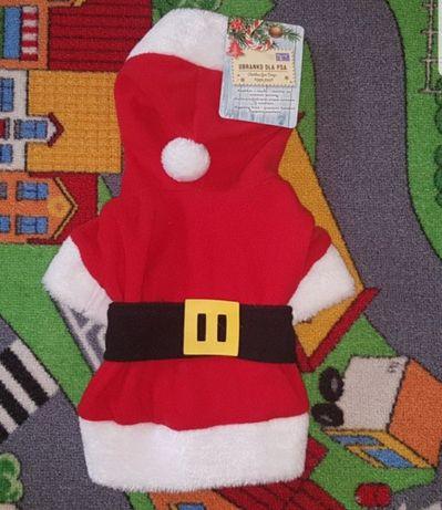 Nowe ubranko dla psa pieska rozmiar S Święty Mikołaj