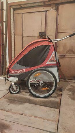 Прицеп к велосипеду для перевозки детей