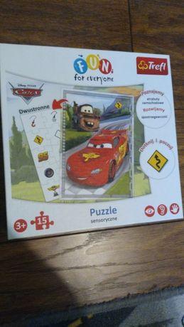 Puzzle sensoryczne, dwustronne CARS Auta Trefl 3+