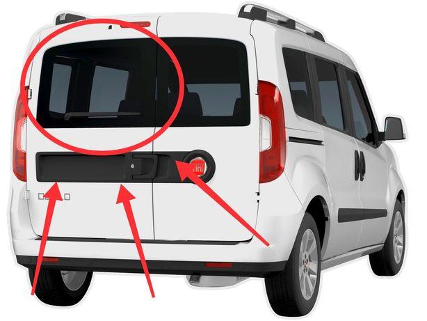 Стекло Fiat Doblo заднее левое распашонка