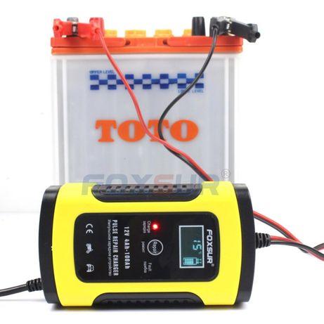 Зарядное устройство с чипом для машины. аккумулятор от 4 - до 100 А