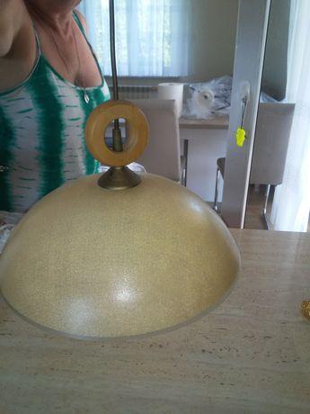 Żyrandol kuchenny żółty