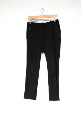 H&M czarne eleganckie spodnie joggery 38 M