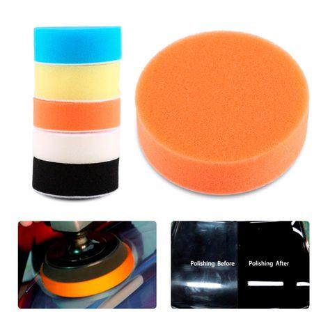 Kit de 5 Esponjas de Polimento com Feltro para Móveis, Veículos, etc.