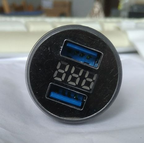 Авто зарядное usb с вольтметром