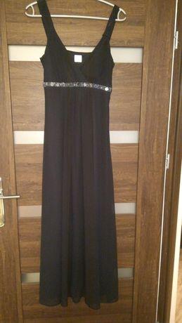 Czarna sukienka wieczorowa Camaieu 36