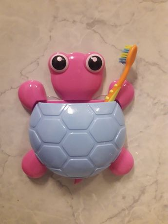 Tartaruga porta escovas com ventosa