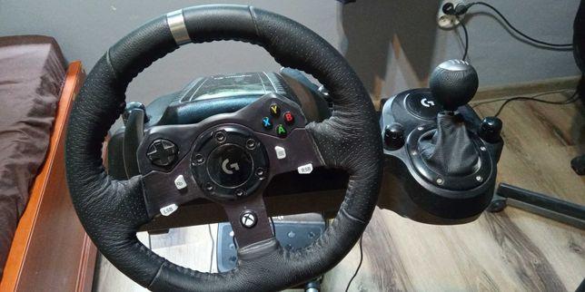 Kierownica Logitech g920 + h-shifter + stojak + hydrołapa