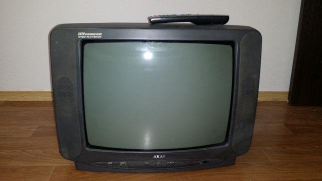 Телевизор AKAI CT-20WKD(Y1) рабочий с пультом