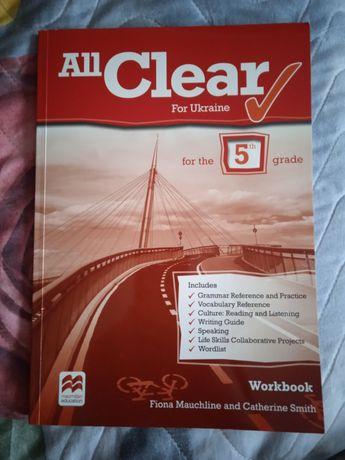 Продам підручник workbook ALL CLEAR 5 клас