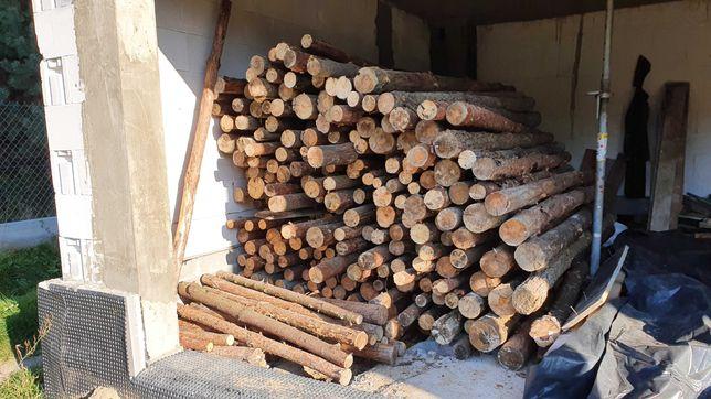 Drewniane stemple budowlane ok 180. szt. 2,5 - 2,9 m