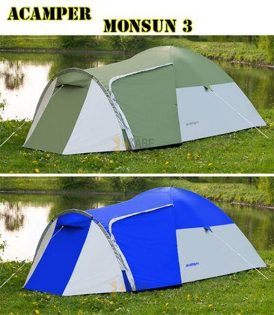 Палатка туристическая Acamper Monsun 3 двухслойная новая