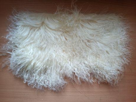 Пол пластины мех ламы натуральный на коже