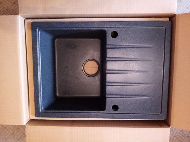 Zlewozmywak granitowy z baterią CALYPSO INPERO 68,5 x 49,5 cm