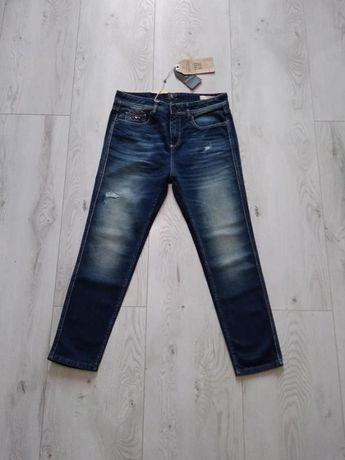 damskie jeansy marki Jean's West roz. W27 L32 nowe Benetton Group