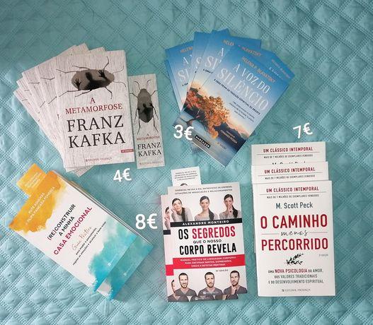 50 livros desenv.pessoal,saude e auto ajuda-Desde 2€- NOVOS a estrear