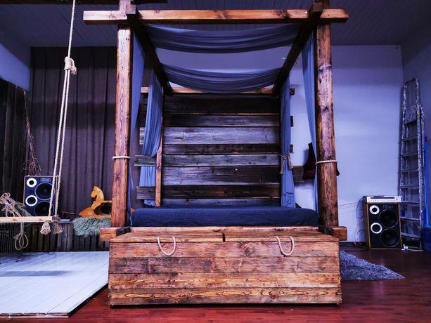 skrzynia drewniana - industrial, loft