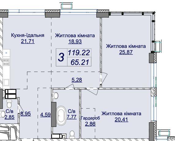 Продажа 3к квартиры в ЖК Новопечерские Липки (120 м2). Драгомирова