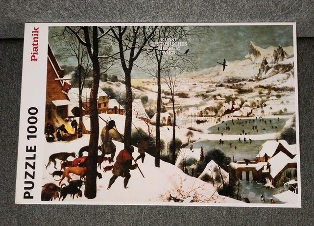 PUZZLE 1000 Piatnik Bruegel Brueghel Breughel Myśliwi na śniegu