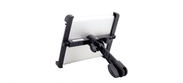 Suporte iPad / tablet tripé microfone