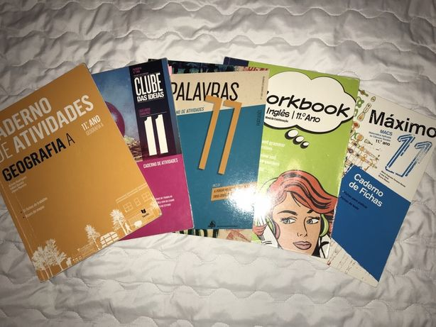 Caderno de fichas / atividades 11 ° ano ingles , portugues , macs ...