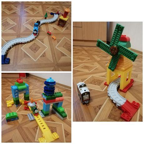 Железная дорога паровозик Томас, мега блокс mega blocks лего дупло