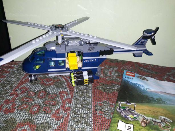вертолет из набора Lego Jurassic World парк юрского периода