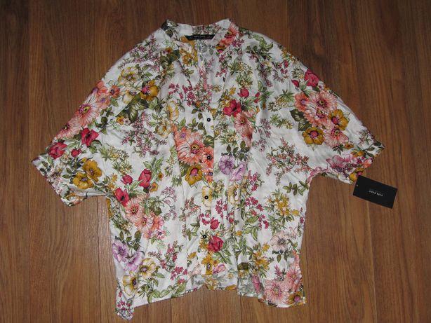NOWA! Koszula kwiaty wiskoza *ZARA* r.M oversize