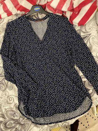 Przepiękna granatowa koszula