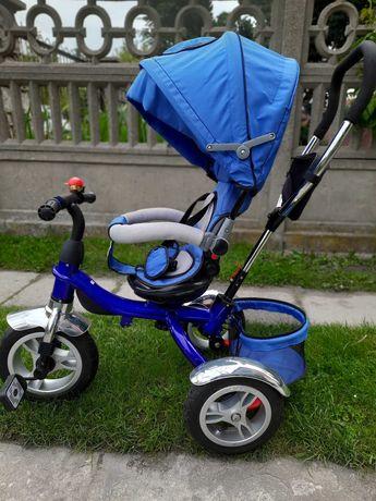 Rower trójkołowy NIEBIESKI dla dzieci, JAK NOWY, wielofunkcyjny