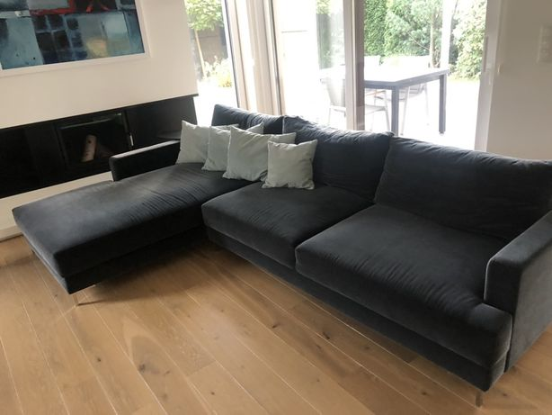 Sofa, narożnik, ciemny szary,