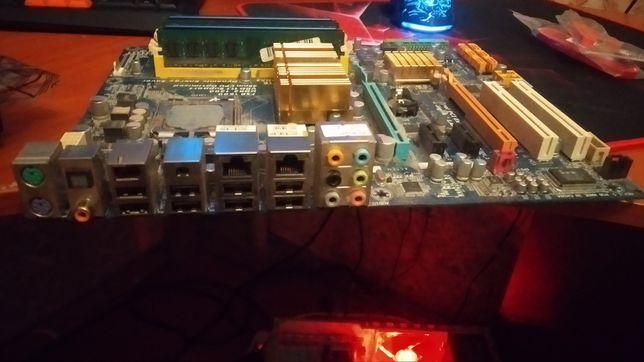 Мат плата Gigabyte GA-EP45-DS3 + охлаждение + видеокарта GTX 560