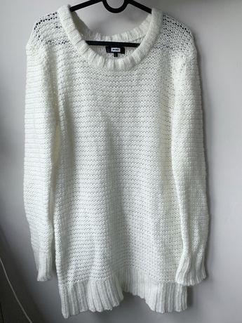 Tunika/sukienka/sweter ecru kremowy 16% wełna 13% moher
