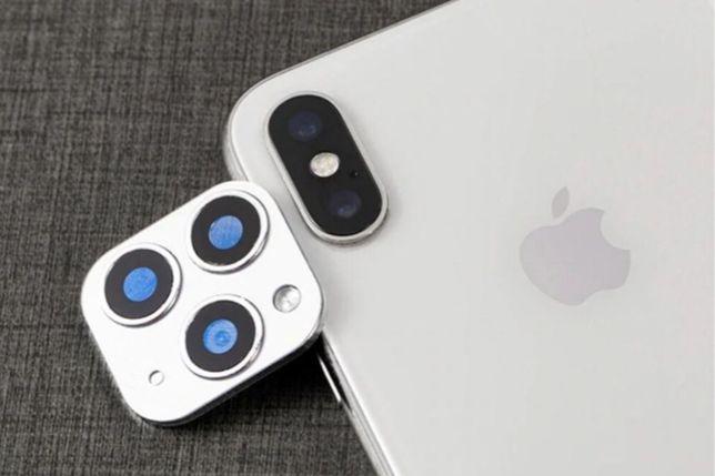Накладка на камеру iPhone X, XS, MAX • ОПТ/РОЗ