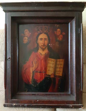 Старинная икона Господь Вседержитель 19 век.