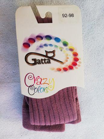 Rajstopy dziecięce gatta 92-98 bawełna prążki super jakość, dobra cena