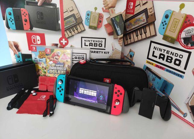 Nintendo Switch Zestaw | 14 Gier | 128GB | Gwarancja | Nintendo Labo