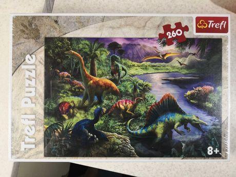Пазл, динозавры, Trefl puzzle, 260 деталей.