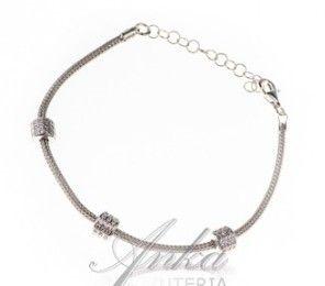 ankabizuteria.pl opal australijski biżuteria Bransoletka srebrna z mik