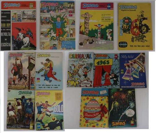Revistas Zorro - Magazine da Juventude - Anos 60 - Capas Especiais