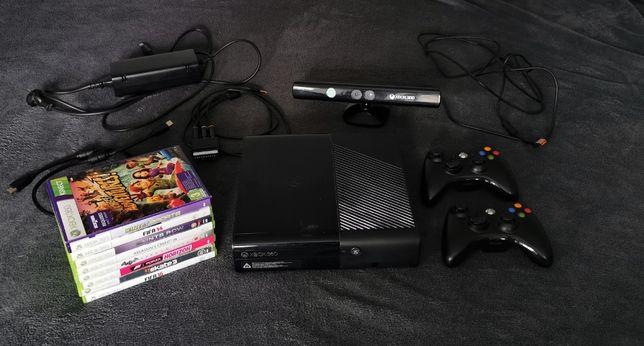 xbox 360, dwa pady, kinect, 9 gier, okablowanie