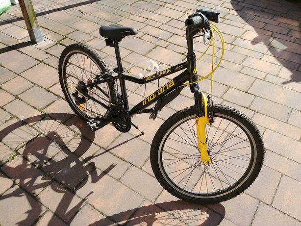 Rower młodzieżowy górski INDIANA Rock Jr 24 cale Czarno-żółty