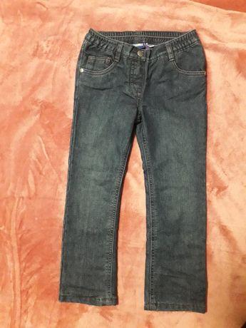 Утепленные темно-синие джинсы  Lupilu 110см (длина 63см) Германия